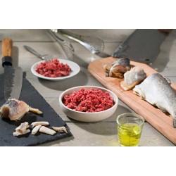 BARF-Menü mit Rind & Fisch für Katzen